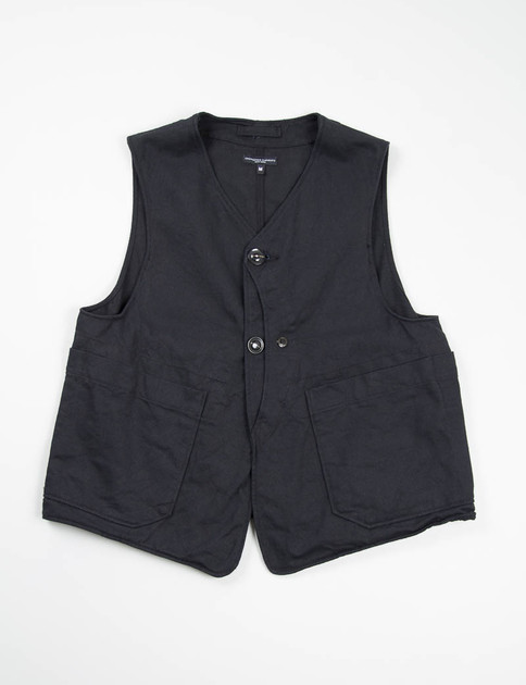 Black 10oz Bull Denim Upland Vest
