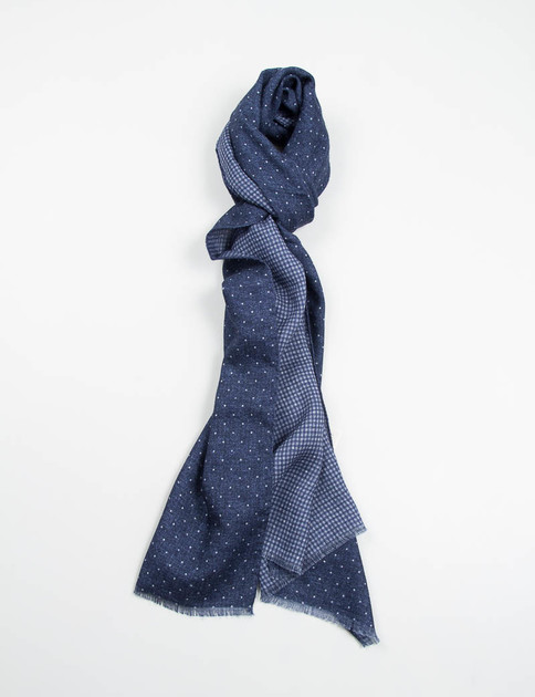 Indigo Polka Dot Double Sided Scarf