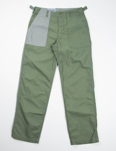 Olive/Grey Combo Reversed Sateen Fatigue Pant