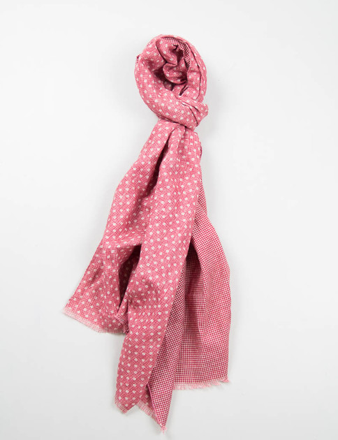 Red Polka Dot Double Sided Scarf