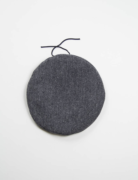 Dark Grey 13oz Herringbone Beret