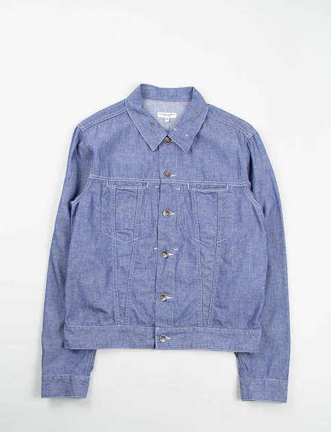 Indigo Cotton Dungaree Cloth Type 5 Jean Jacket