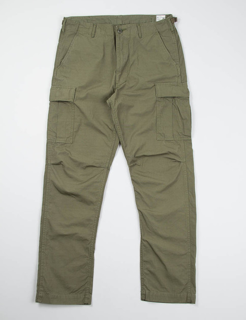 Army Green Ripstop 6 Pocket Cargo Pant