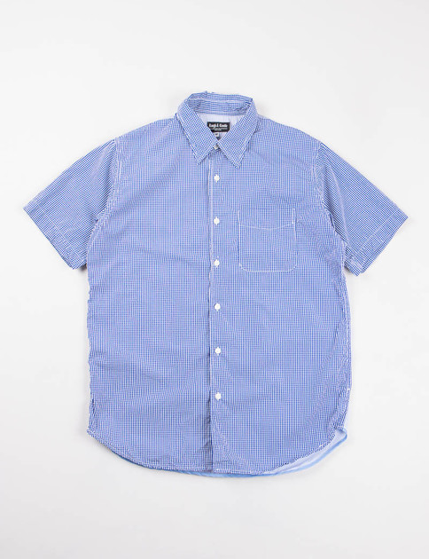 Royal/White Gingham Block Back Shirt