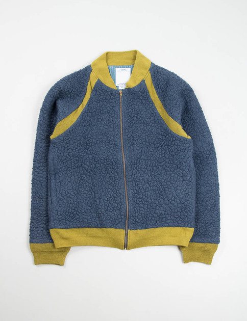 Navy Alces Fleece Blouson