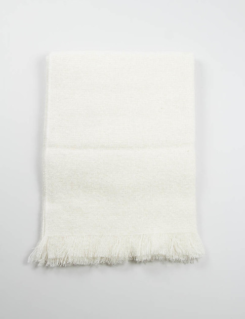 Natural White Mohair Loop Throw