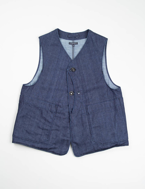 Indigo 11oz Broken Denim Upland Vest