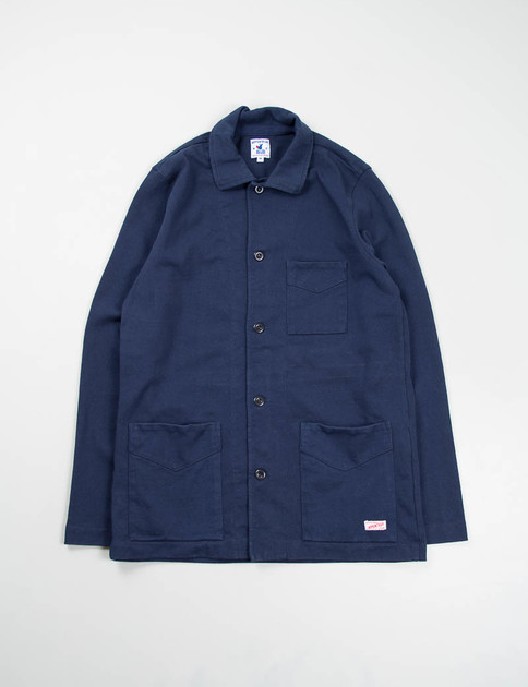 Navy Cotton Jersey Tricot Jacket