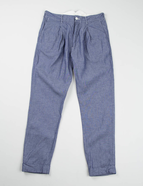 Indigo Cotton Dungaree Cloth Willy Post Pant