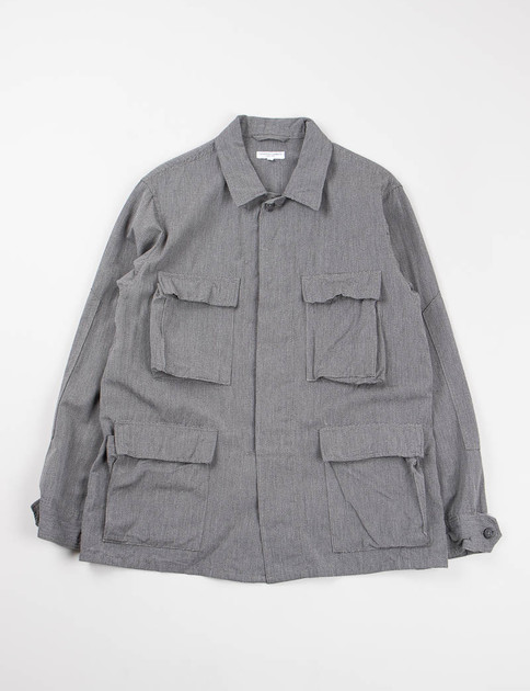 Grey Broken Chambray BDU Jacket
