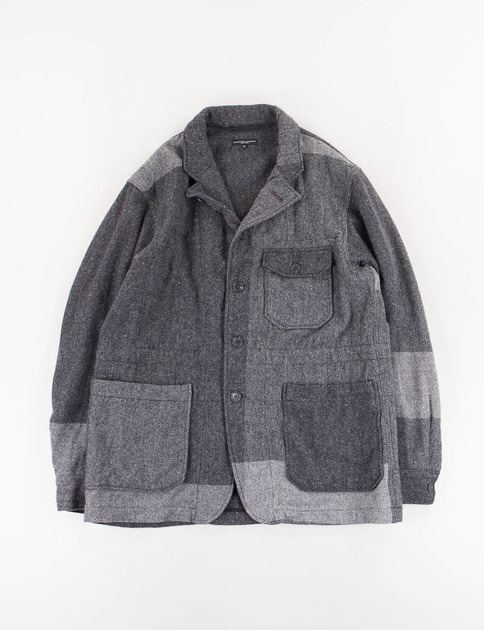Dark Grey Lt Weight Big Plaid HB Benson Jacket