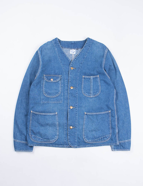Used Denim Wash Rail Road Jacket
