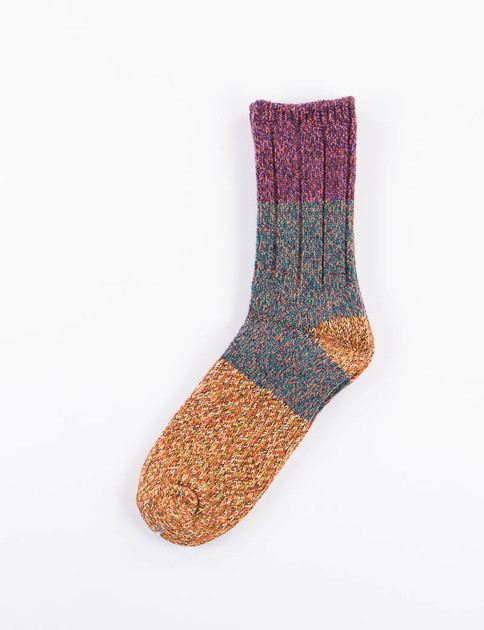 Purple Van Gogh Wool Socks