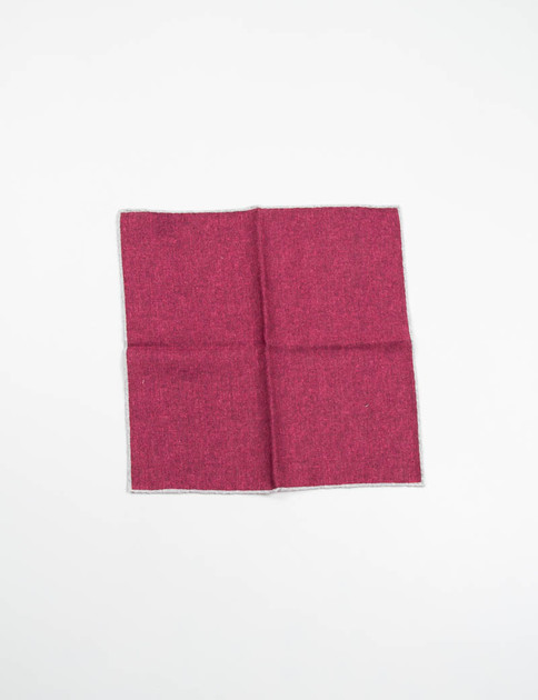 Bordeaux Wool Pocket Square