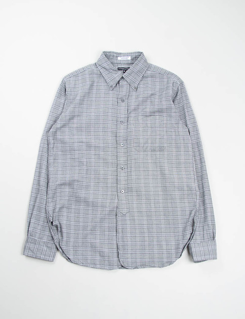 Grey Brushed Glen Plaid 19th Century BD Shirt