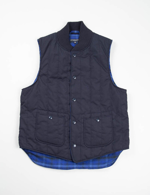 Dark Navy Weather Poplin Primaloft Fridge Vest