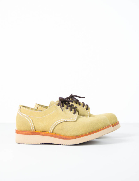 Avocado Rough Out Suede Charles Oxford