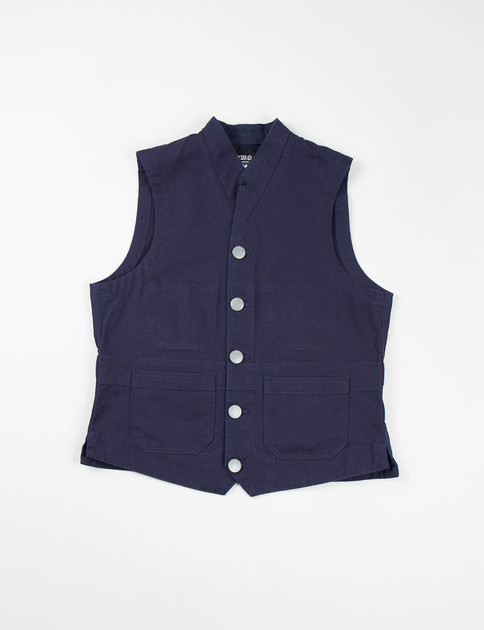 Lybro Dark Navy Notch Lapel Vest
