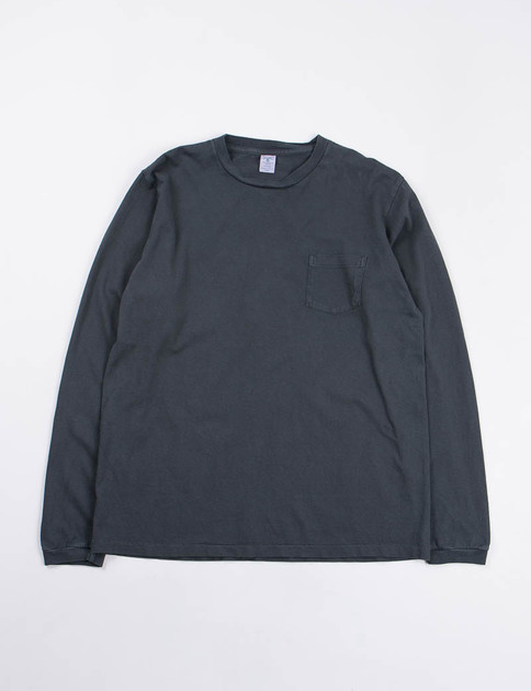 Black Pigment Dye L/S Pocket Tee