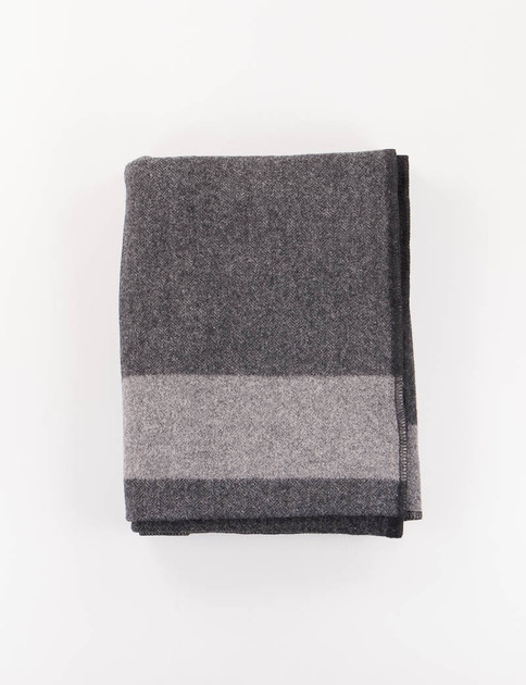 Dark Grey Big Plaid HB Wool Blanket