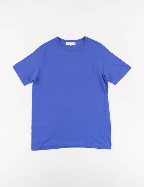 Electric Blue 1950s Organic Crew Neck Tee