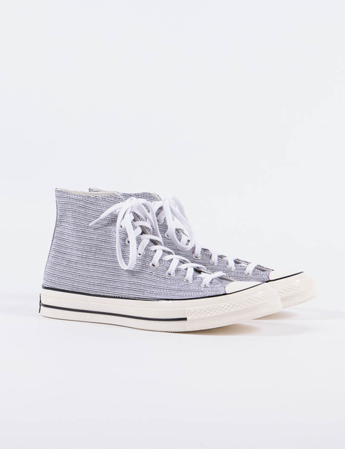 White/Black Poplin Shirt Chuck Taylor All Star 70s Hi