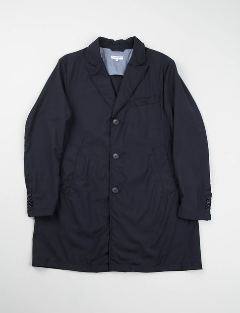 Navy Tropical Wool Chester Coat