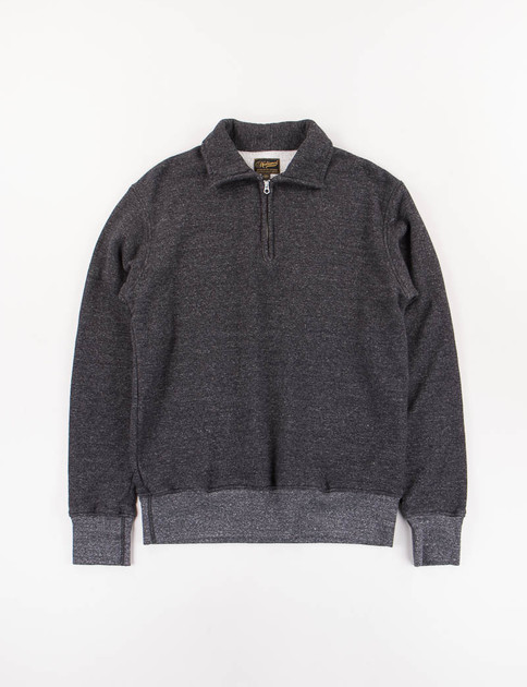 Black Heather 1/4 Zip Campus Sweat