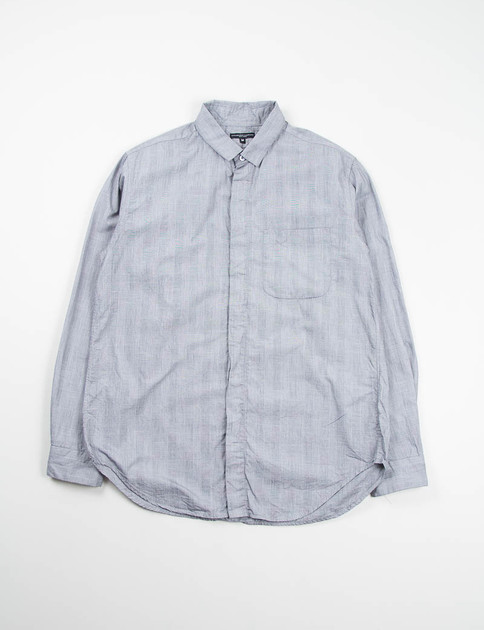 Grey Glen Plaid Short Collar Shirt