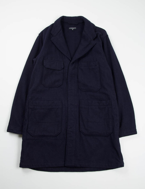Dark Navy 16oz Wool Flannel Shop Coat