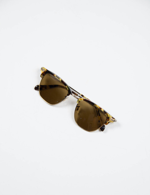 Antique Gold/Dark Tortoise Banks Sunglasses