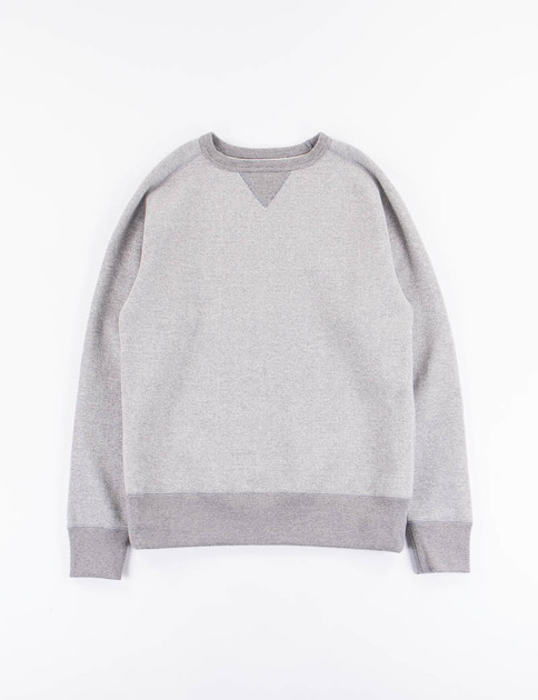 Mix Grey Loop Wheel Crew Sweat