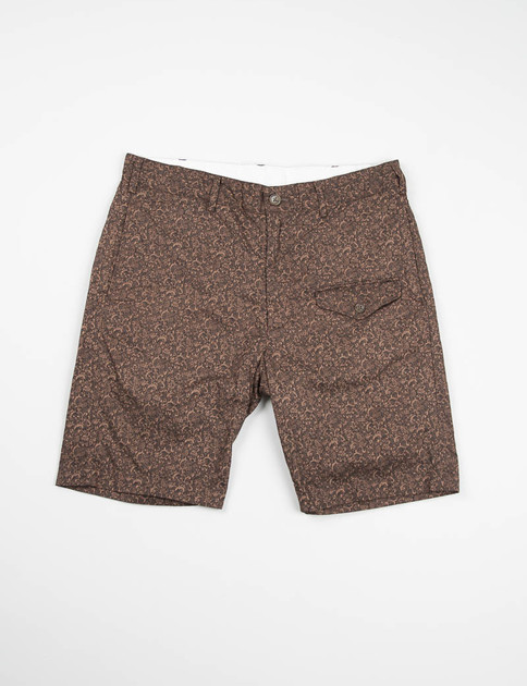 Brown Paisley Print Ghurka Short