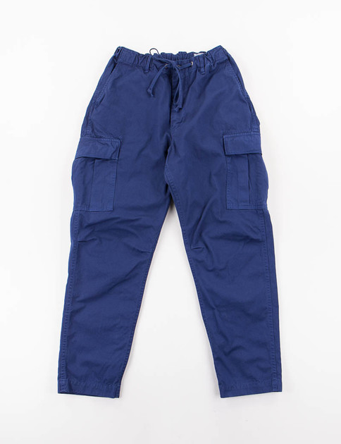 Ink Blue Poplin Easy Cargo Pant SPECIAL