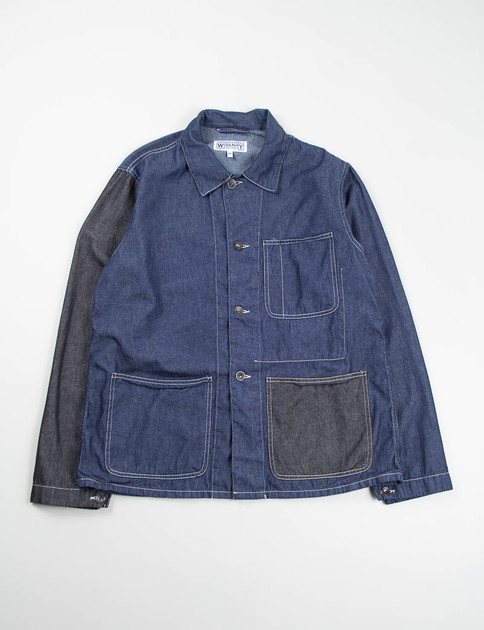 Navy/Black Combo 6oz Denim Utility Jacket