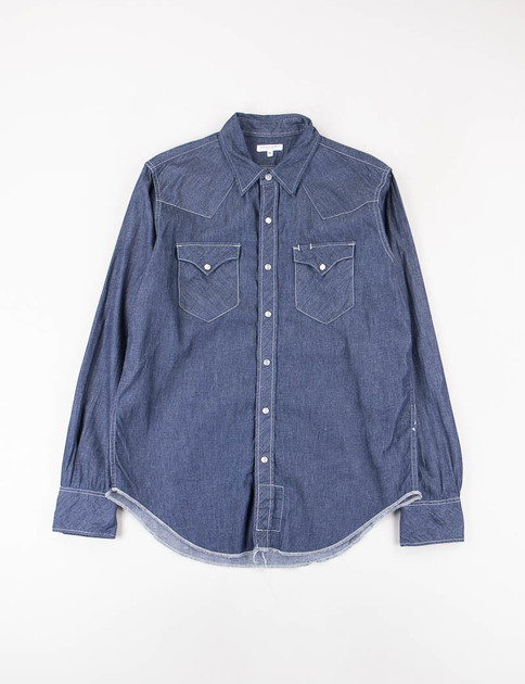 Indigo Light Weight Denim Western Shirt
