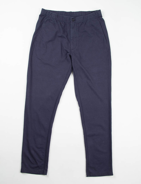 Dark Navy French Terry Easy Pant