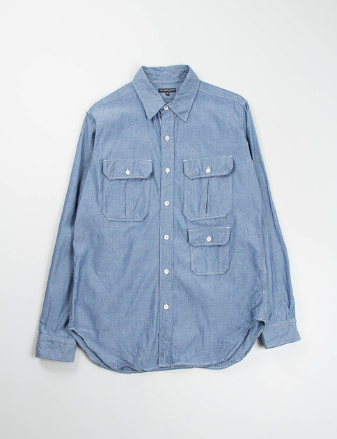 Blue Chambray Mil Shirt SPECIAL