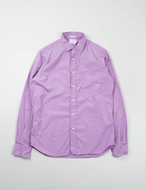 Grape End on End Point Collar Shirt