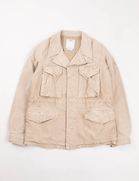 Beige Damaged Chino Achse Jacket