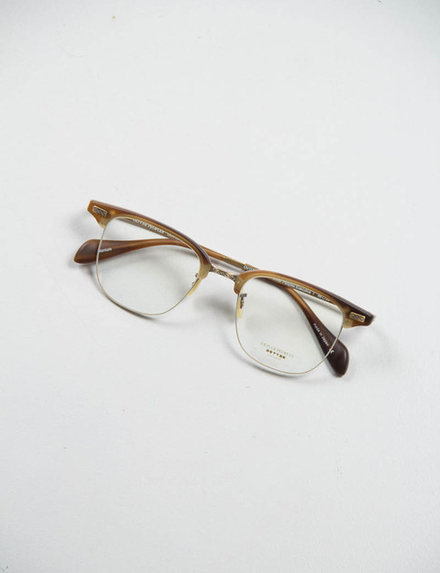 Matte Sycamore/Antique Gold Executive I Optical Frame