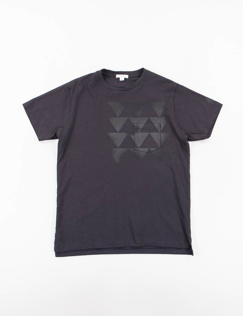 Navy Triangle Printed T–Shirt