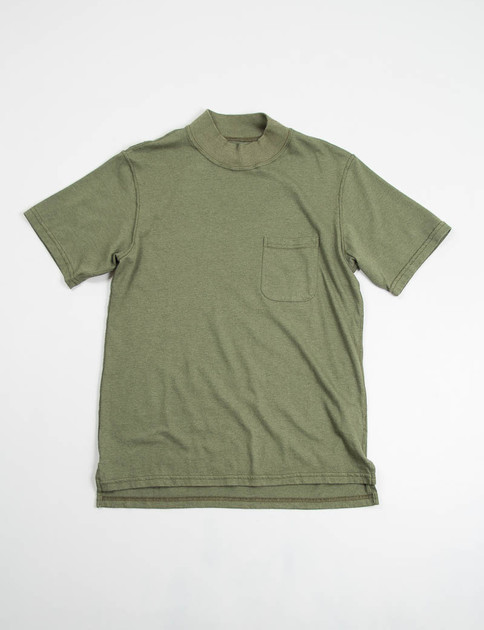 Olive T–Shirt Jersey High Crew Tee