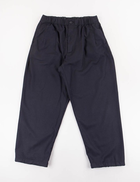 Dark Navy Worsted Heavy Wool New Balloon Pant