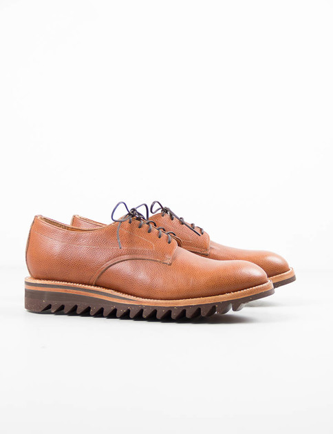 Brown Scotch–Grain Derby W Ripple Sole