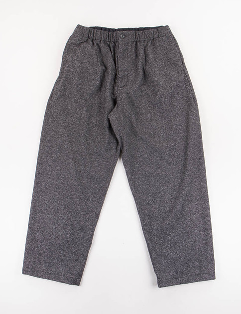 Charcoal Wool Homespun New Balloon Pant