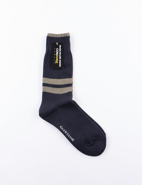 Navy Cordura Stripe Socks