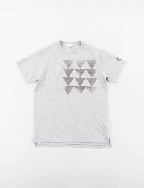 Grey Triangle Printed T–Shirt