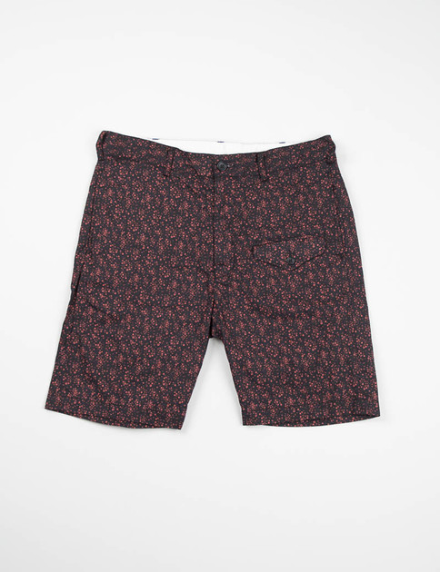 Red/Black Small Floral Ghurka Short