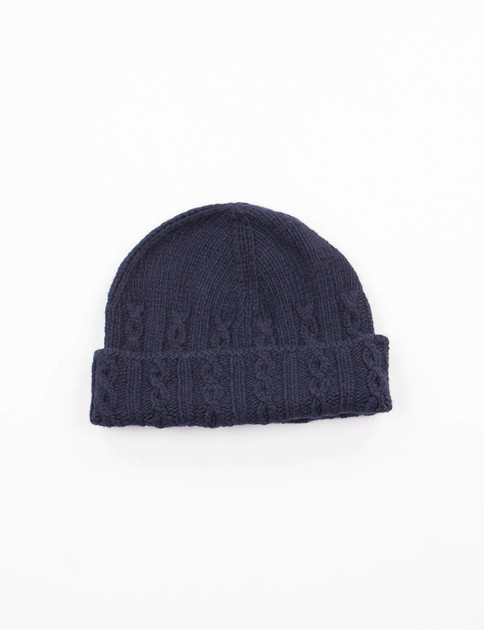 Blu Navy Cable Hat